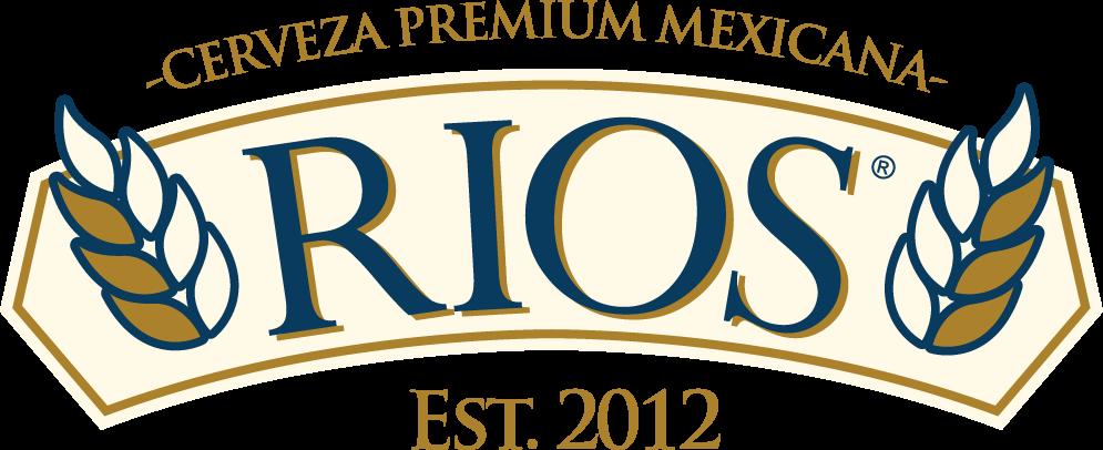 Logo horizontal de cerveza ríos, cerveza artesanal de queretaro